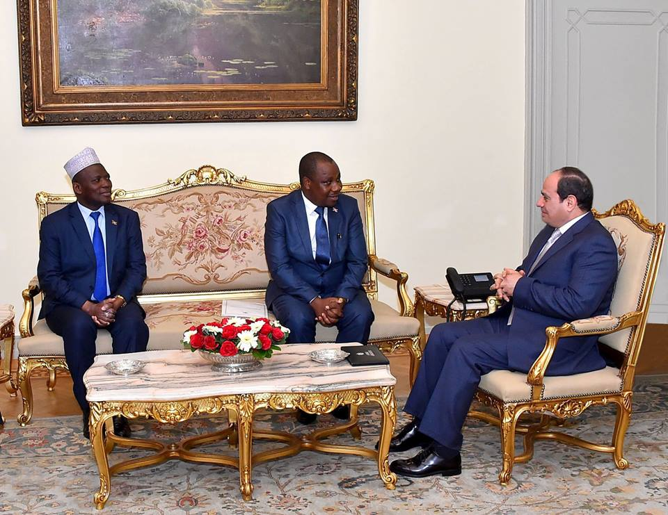 """الرئيس السيسي يستقبل """"ايزيكيال نيبيجيرا"""" وزير خارجية بوروندي"""