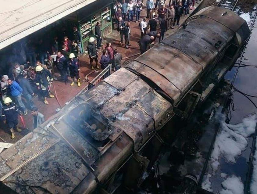 القبض على سائق قطار محطة مصر المتسبب بالحادث
