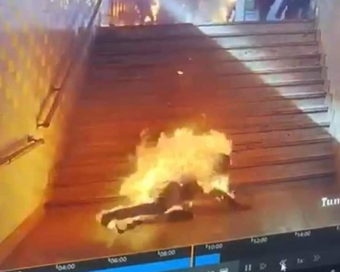 بـ«جركن مياه».. بطولة شاب أنقذ 4 أشخاص في حادث محطة مصر (فيديو)