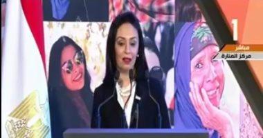 مايا مرسى: الإرادة السياسية حافظت على حقوق المرأة والرئيس السيسي أول مدافع عن حقوقنا