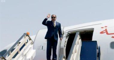 الرئيس السيسى يغادر مطار القاهرة - ارشيفية