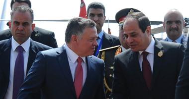 ملك الأردن يصل القاهرة للمشاركة فى القمة المصرية الأردنية العراقية