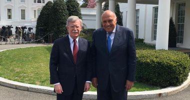 شكرى يبحث مع مستشار الأمن القومى الأمريكى تطورات القضية الفلسطينية