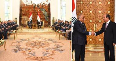 الرئاسة: السيسي أكد استعداد مصر لنقل تجربتها لإعادة الإعمار فى العراق