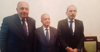وزراء خارجية مصر والأردن والعراق يبحثون تعزيز التعاون فى شتى المجالات