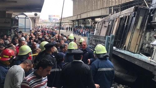 النيابة توجه تهمة القتل الخطأ للمتهمين الـ6 في حادث قطار محطة مصر
