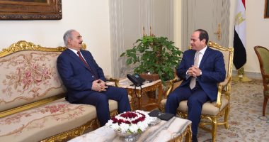 الرئيس السيسي يلتقى المشير حفتر لبحث مستجدات وتطور الأوضاع فى ليبيا