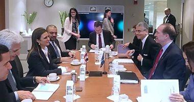 رئيس البنك الدولى مع وزيرة الاستثمار والتعاون الدولى