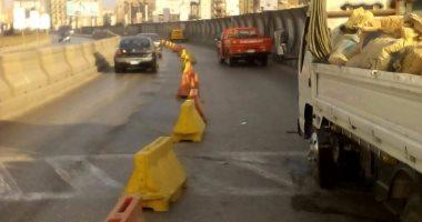 المرور يغلق محور جوزيف تيتو جزئيا بسبب إنشاء كوبرى مشاة لمدة 3 أسابيع
