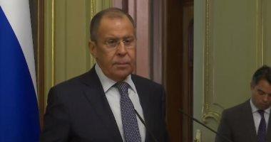 وزير الخارجية الروسى يغادر القاهرة بعد لقاء الرئيس السيسي