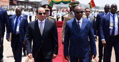 صفحة الرئيس السيسى تبرز زيارته إلى العاصمة الغينية كوناكرى