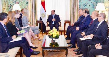 """السيسى يستقبل """"إيفانكا ترامب"""".. وابنة الرئيس الأمريكي تشيد بجهود تمكين المرأة بمصر"""