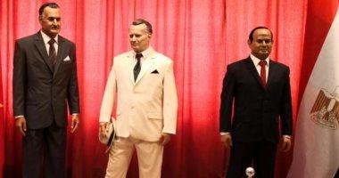 صور.. إقامة تمثالين للرئيس السيسى وعبد الناصر فى متحف الشمع بصربيا