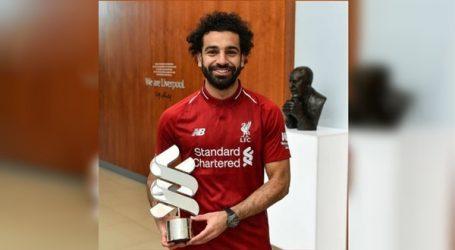 """شاهد.. أول تعليق لـ""""محمد صلاح"""" بعد فوزه بجائزة لاعب الشهر في ليفربول"""