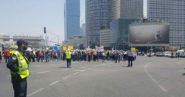 صور.. متقاعدون فى إسرائيل يتظاهرون أمام مقر الحكومة بسبب المعاشات