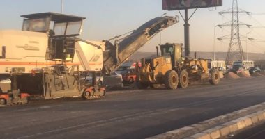 المرور: تحويلات بتقاطع الأوتوستراد مع الدائرى لمدة 30 يوما لتنفيذ أعمال تطوير