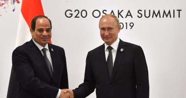 قمة العشرين.. ننشر فيديو لقاء الرئيس السيسى مع نظيره الروسى