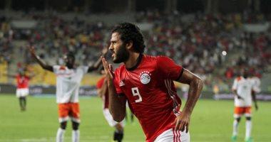 مروان محسن يُحرز الهدف الأول لمنتخب مصر في مرمى غينيا بصاروخية
