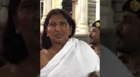 """فيديو…امرأة ترتدي """"إحرام الرجال"""" في المسجد الحرام"""