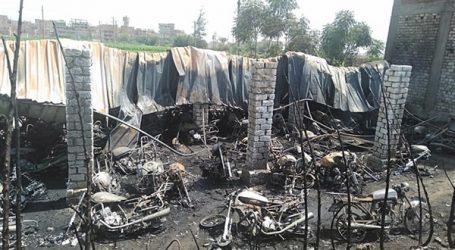 الحماية المدنية تسيطر على حريق شب بجراج دراجات بخارية بطوخ