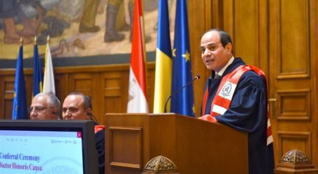 صور ترصد منح جامعة بوخارست درجة الدكتوراه الفخرية للسيسي