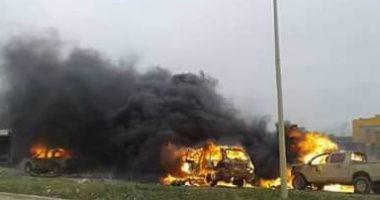 انفجار سيارة مفخخة خلال تشييع جنازة قائد قوات الصاعقة الليبية السابق ببنغازى