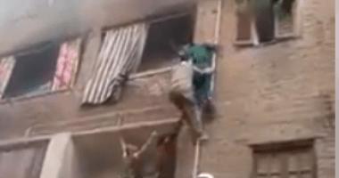 السيطرة على حريق داخل شقة سكنية فى المنيب دون إصابات