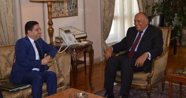 وزير الخارجية يتسلم رسالة من العاهل المغربى للرئيس عبد الفتاح السيسى