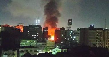 حريق هائل بمقر دير الأنبا بولا فى حدائق القبة