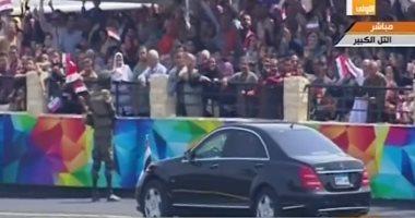 الرئيس السيسى يصل معهد ضباط الصف المعلمين فى التل الكبير