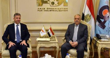 رئيس العربية للتصنيع يستقبل السفير القبرصى.. ويؤكد: مشروعات مشتركة قريباً