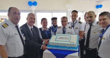 مطار دوالا بالكاميرون يحتفل باستقباله أولى رحلات مصر للطيران