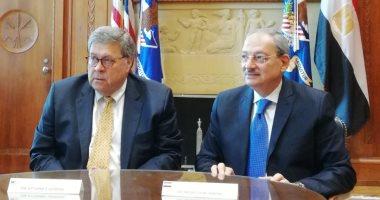 النائب العام يوقع مذكرة تفاهم للتعاون القضائى مع نظيره الأمريكى