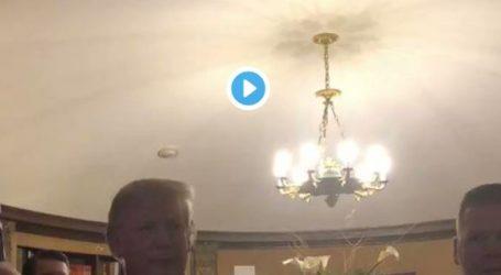 ترامب يفاجئ عروسين بحضور حفل زفافهما (فيديو)