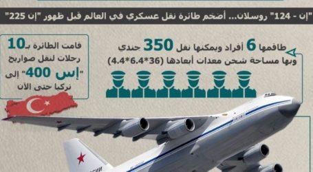 """معلومات عن طائرة الشحن العسكري التي نقلت صواريخ """"إس 400"""" إلى تركيا"""