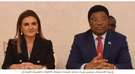 وزيرة الاستثمار ورئيس وزراء تنزانيا يبحثان الفرص الاستثمارية بالبلدين