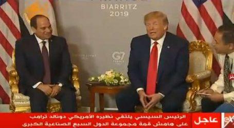 السيسي يلتقي ترامب على هامش قمة السبع