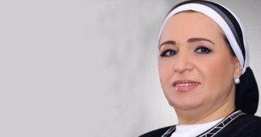 انتصار السيسى: خالص العزاء لكل المصريين فى استشهاد أبنائنا بالحادث الإرهابى بالمنيل