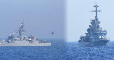 القوات البحرية المصرية والفرنسية تنفذان تدريبا عابر فى البحر المتوسط