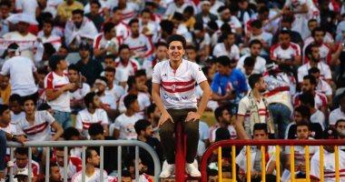 فيديو.. لاعبي الزمالك تحيى الجماهير في استاد برج العرب