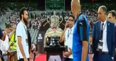 كأس مصر يظهر أمام جمهور ستاد برج العرب قبل انطلاق المباراة النهائية