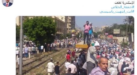 زيف الإخوان .. مذيع إخواني ينشر صورة قديمة ثم يحذفها بعد فضحه