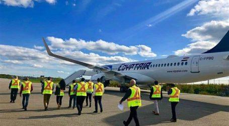 اختبار طائرة مصر للطيران الثانية A220 في كندا قبل وصولها للقاهرة