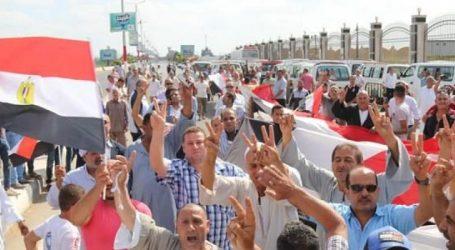 مظاهرات تأييد الدولة أمام جامعة كفر الشيخ