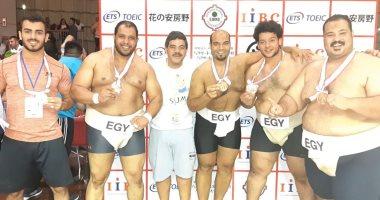 منتخب السومو يحقق الميدالية البرونزية ببطولة العالم فى اليابان