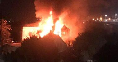 اندلاع حريق داخل كنيسة بحلوان والإطفاء تحاول إخماده