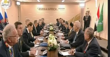 الرئيس السيسى: نتطلع إلى دور روسيا فى دعم جهود التنمية فى الدول الأفريقية