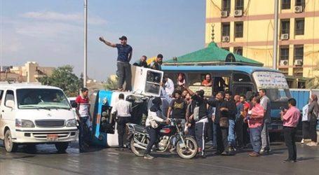 إصابة 7 أشخاص بحادث انقلاب سيارة أعلى كوبري الجيزة