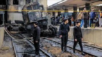 إستكمال محاكمة 14 متهما فى حادث تصادم قطار محطة مصر اليوم