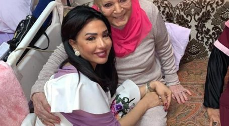 شاهد أحدث صور للفنانة الكبيرة نادية لطفى فى المستشفى بالمعادى